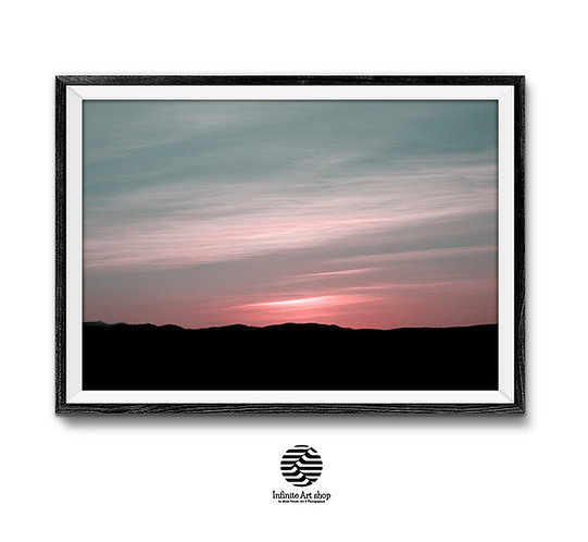 Minimalist Sunset Wall Art  Digital Download,Trendy wall art Printable Wall Decor ideas,night sky