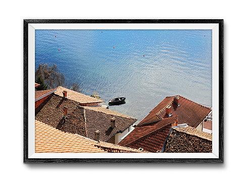 Red Roof Print Digital Download,coastal master bedroom ideas