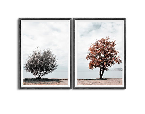 Minimalist Nature Photography,Set of 2 Tree Branches Prints,Downloadable Tree Print,Digital Download Landscape Wall Art Print