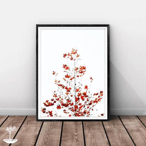 Minimalist Fall Wall Art Print,Autumn Tree Print,Branches Wall Art,Modern Printable Wall Decor,Large Print,Digital Download,