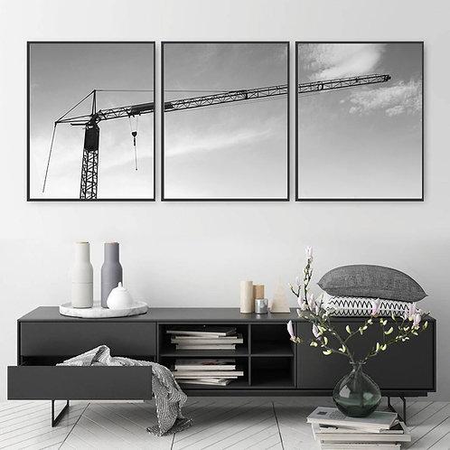 Building Crane Print,Living room decor,last minute gift ideas