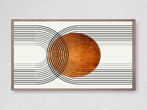 Art for TV,Frame Tv Art,Arch Art,Abstract Frame Art,Mid Century Art,Geometric.