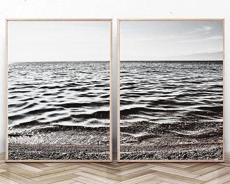 Coastal Wall Art,Lake Print,Set of 2,Minimalist Beach Print,Digital Download,Trendy Wall Decor,