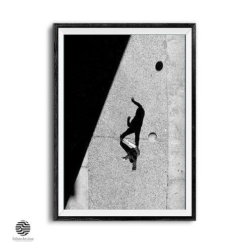 Minimalist Fine Art Print,Street Photography,Black And White,Creative Shadow Photography,Digital Download,Trendy Print