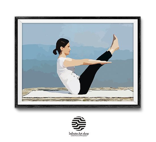 Yoga Wall Art Print Digital Download Large File,Yoga Printable,Trendy wall art ,