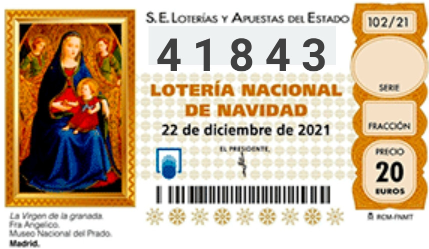 Lotería Nacional de Navidad 2021