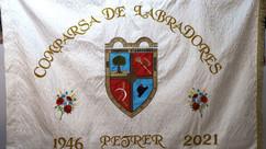 Bendición nueva bandera Comparsa Labradores de Petrer