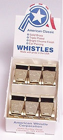 The American Classic Brass Whistle - Model 300B (dozen)