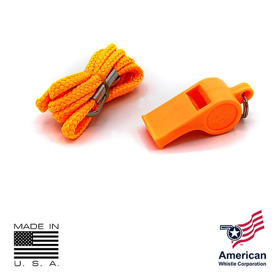 THE AMERICAN PATRIOT PERSONAL SAFETY WHISTLE & LANYARD