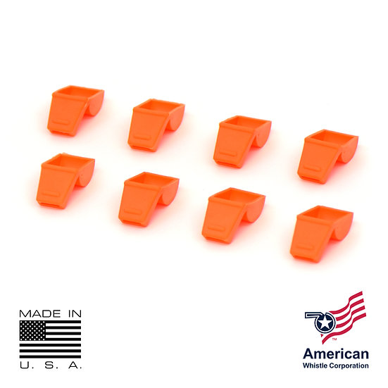 PERSONAL SAFETY WHISTLE ORANGE SAFE-T-TIP (8 PACK)