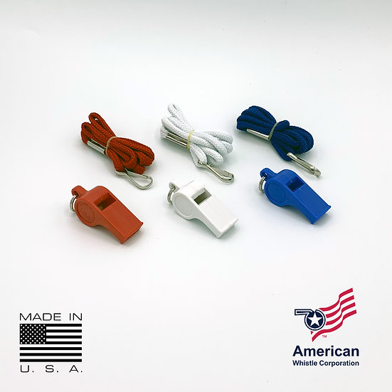American Whistle Corporation Patriot Pack Whistles- Red White and Blue Whistles