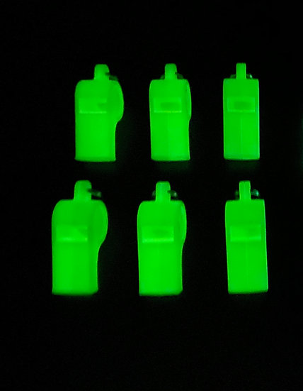 AMERICAN WHISTLE PATRIOT PERSONAL SAFETY WHISTLE  GLOW IN THE DARK(6 PACK)