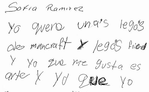 Sofia Ramirez age 7/8