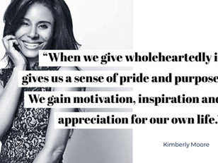 """""""When we give wholeheartedly it gives us a sense of pride and purpose... We gain motivation, in"""