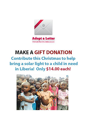 Make a contribution to bring light to a child