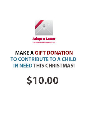 Make a contribution of $10 to Adopt A Letter