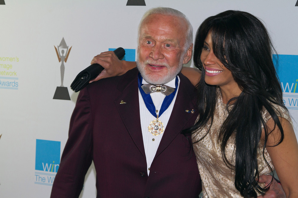 Buzz Aldrin and Kimberly Moore - Women's Image awards, kimberly moore foundation adopt a letter