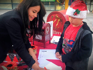 Kimberly Moore collects letters to Santa in Panorama City!