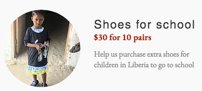 Shoes for school - Liberia - Africa