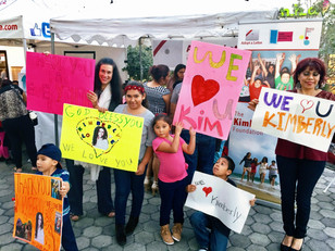 Kimberly Moore receives warm welcome from children in Bell Gardens community!