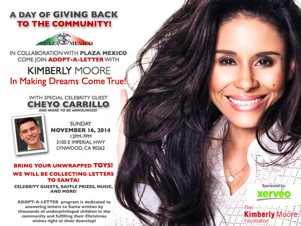 Meet KImberly Moore at Plaza Mexico adopt a letter program