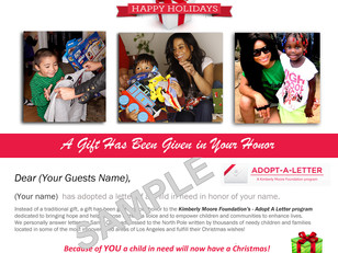 Now You Can Adopt A Letter This Christmas In Someone's Honor! The Perfect Gift For Christmas!