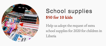School supplies - Liberia - Africa