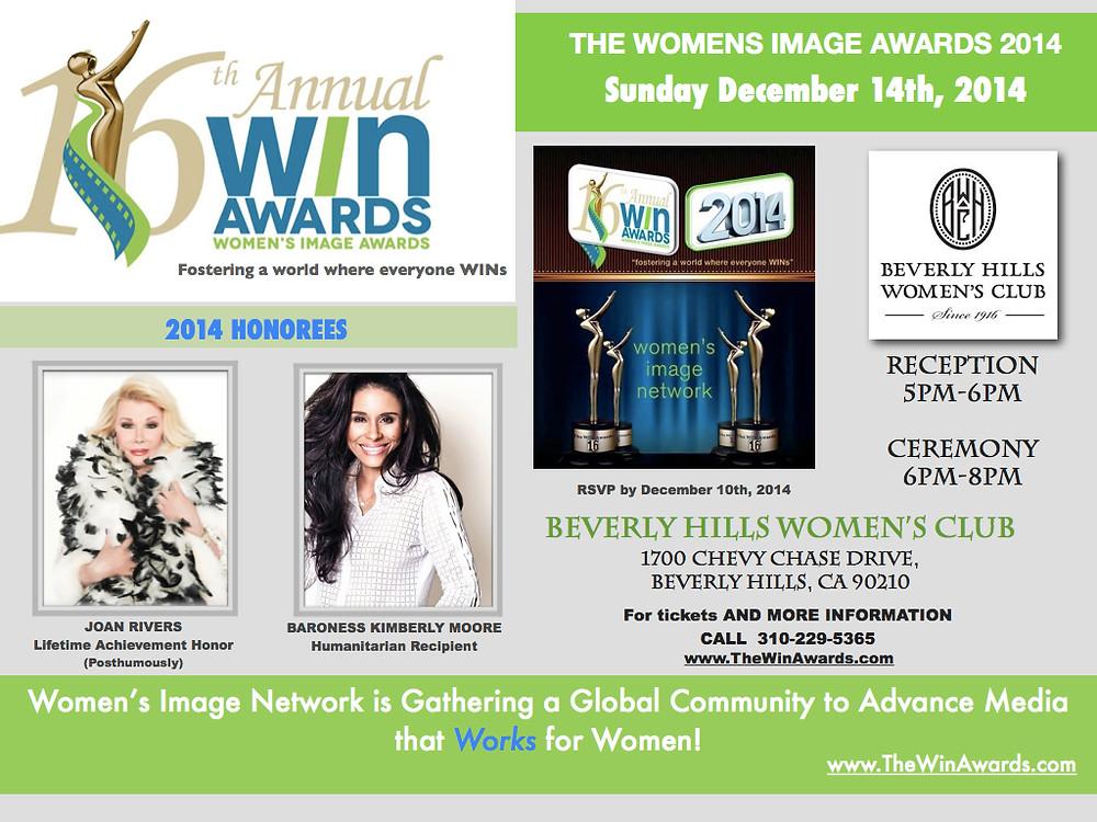 WIN Awards invitation