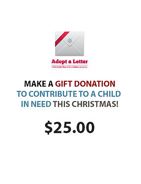 Make a contribution of $25 to Adopt A Letter