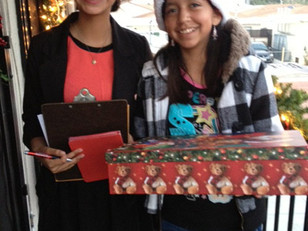 KIMBERLY MOORE VISITS OVER 100 HOMES WITH A PRIVATE TELEGRAM FROM SANTA CLAUS