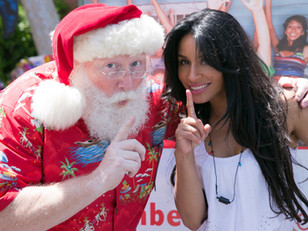 Santa Claus teams up with the Kimberly Moore Foundation's - Adopt A Letter program in May to Help Br