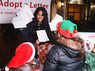 Kimberly Moore makes an appearance at Plaza Alameda to personally collect the Santa letters of hundr