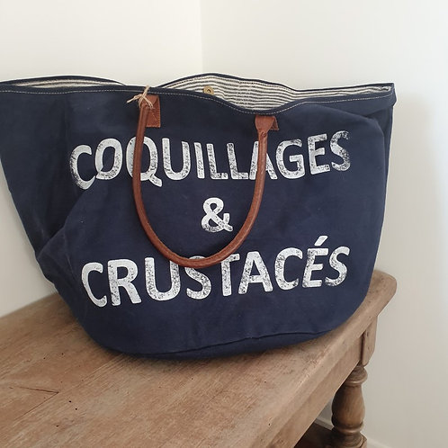 Sac Coquillages et Crustacés Bleu Nuit XL