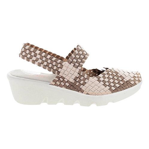 chaussure compensé lihi romeo light gold bronze bernie mev