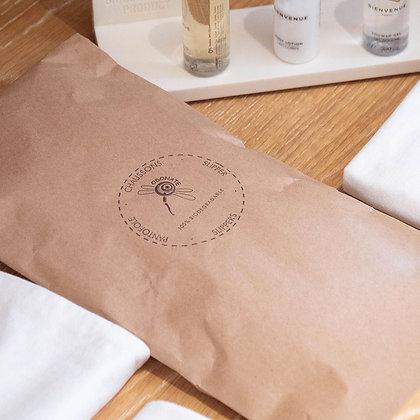 Sac à Pantoufles en papier kraft recyclé