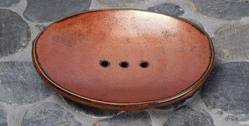 Ancient Copper Soap Dish