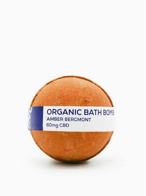 CBD Living Bath Bomb 60mg Amber Bergamot