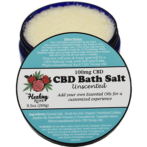 Unscented Bath Salt 9.5oz