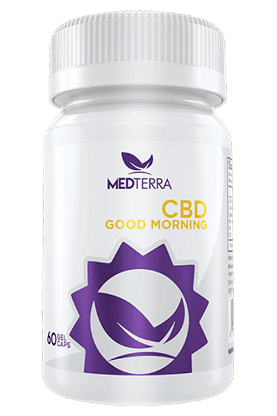 MEDTerra 1500mg CBD Good Morning Capsules
