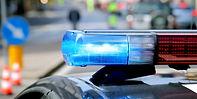 Auto della polizia luci