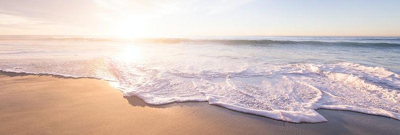 Ocean Photo w/ Waves Crashing at Sunset