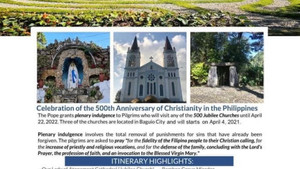 Pilgrimage Tour in Baguio April 2021 - April 2022