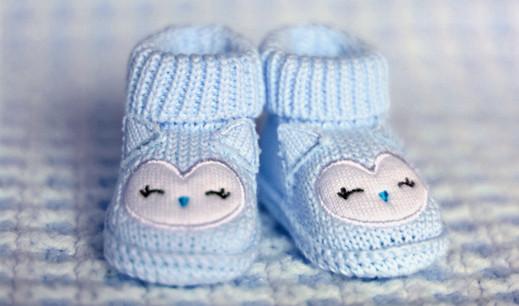 Blau-Kind-Schuh