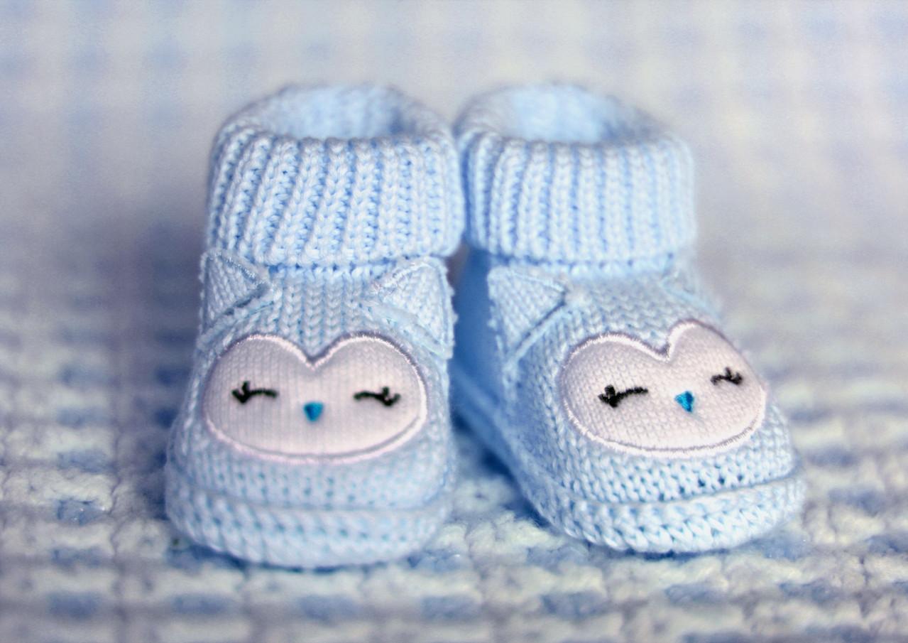 ブルー幼児の靴