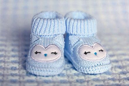 Infantil sapatos azuis