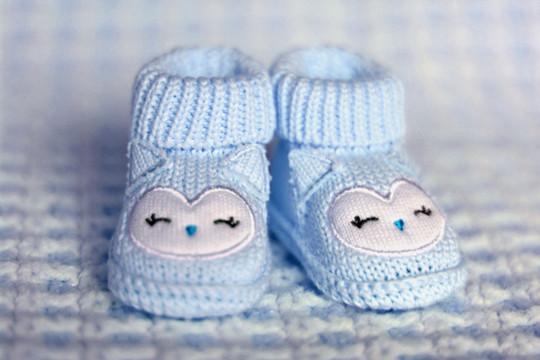 Chaussures pour bébé bleu
