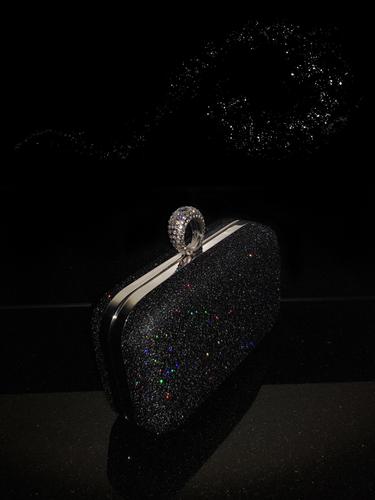 7e52b6e04f Shimmering Black Evening Bag