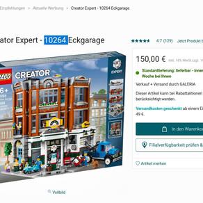 LEGO® Creator Expert - 10264 Eckgarage für 150 Euro im Anegbot Galeria