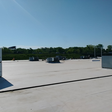Commercial roof complete