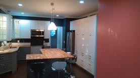 Restored kitchen after